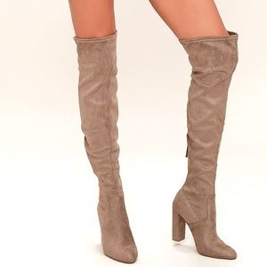 Steve Madden Suede Emotions Over The Knee Boot